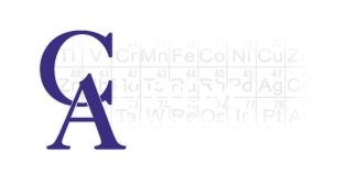 Custom Alloys, Inc. Logo - C.A.I. with periodic table elements in the background